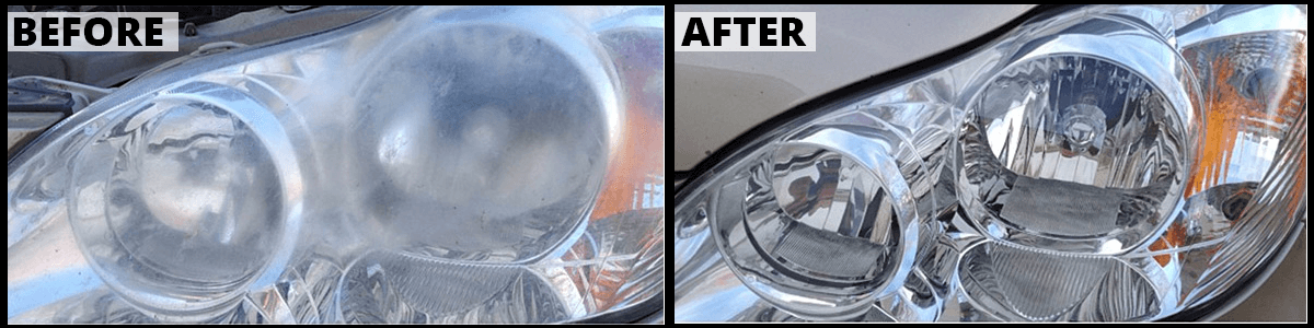 Headlight Restoration Before & After