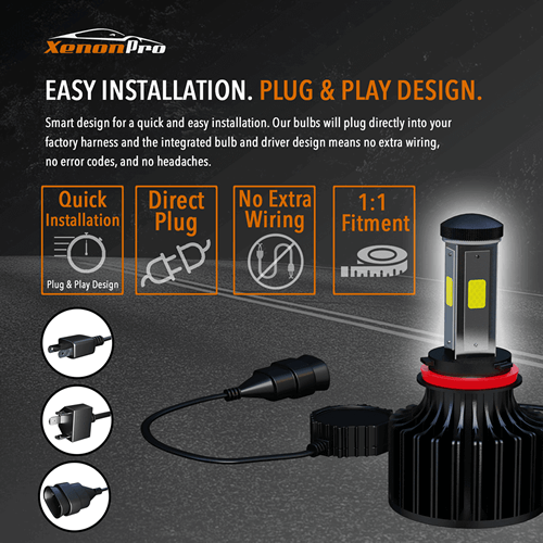 Easy Installation. Plug & Play Design - XenonPro