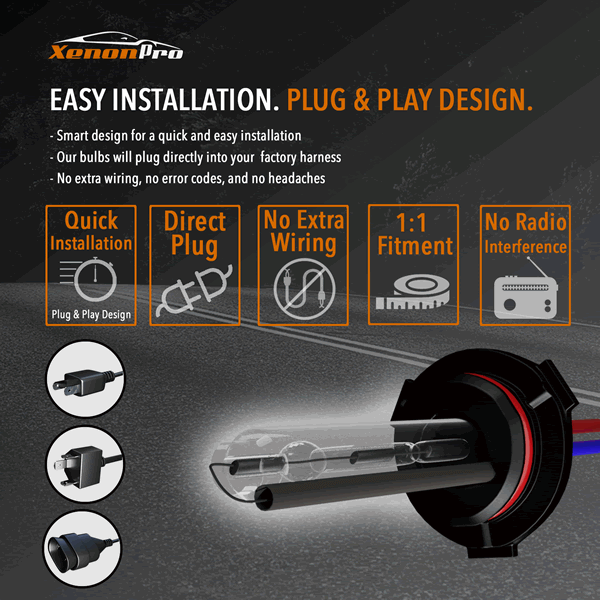 Easy Installation - Plug & Play Design - XenonPro
