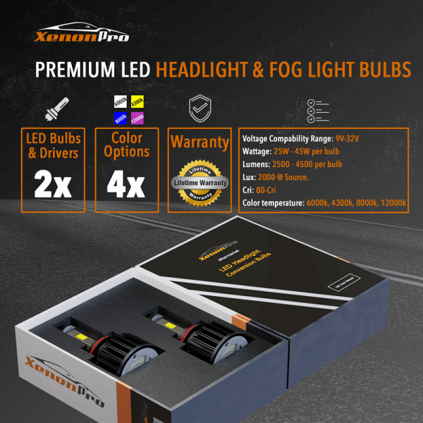 Premium LED Headlight & Fog Light Bulbs - XeononPro