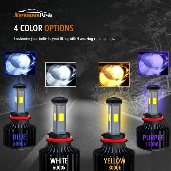 LED Headlights 4 Color Options - XenonPro