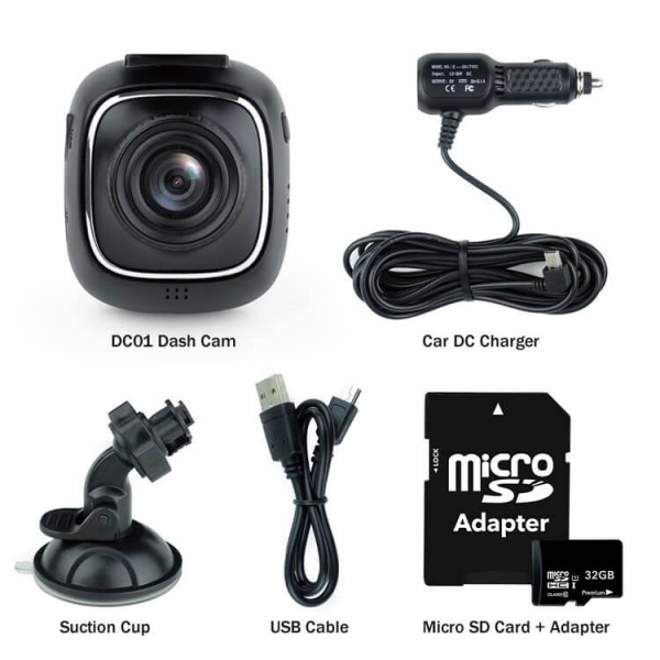 DC01 - Dash Cam Kit Parts - XenonPro