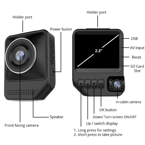 Dash Cam Specs (DC09) - XenonPro